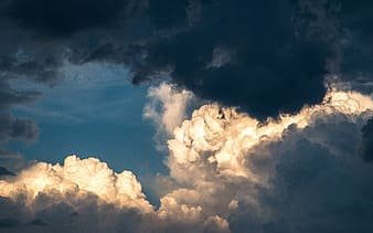White and blue clouds photo