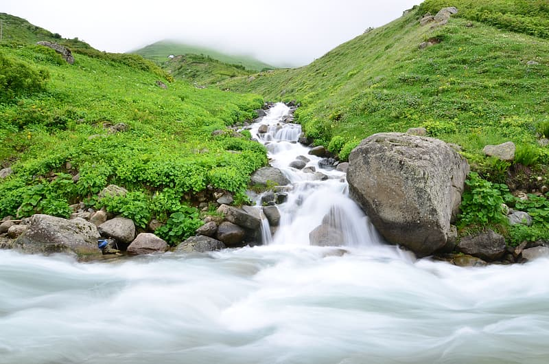 Still life photography of waterfall