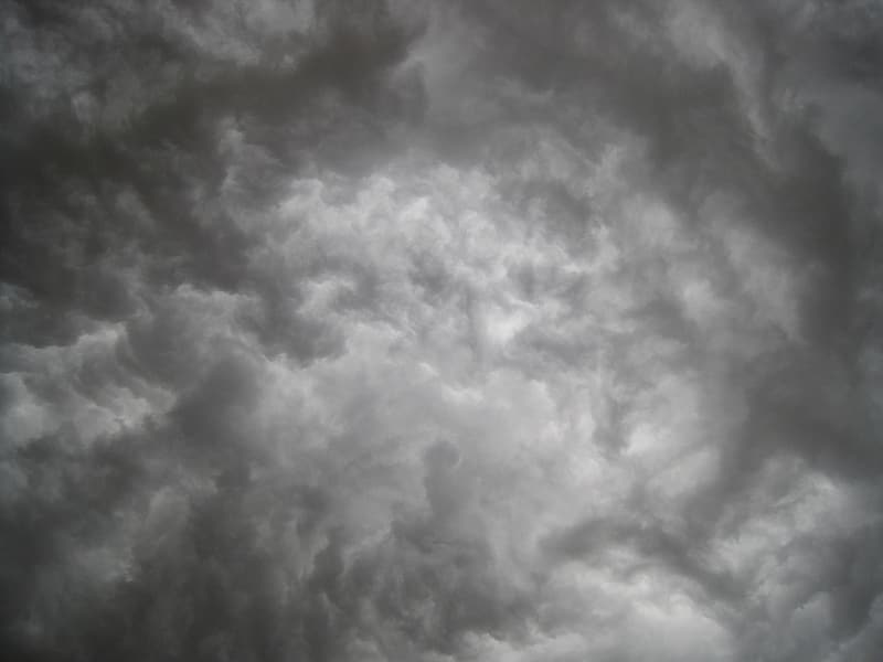 Gray clouds on blue sky