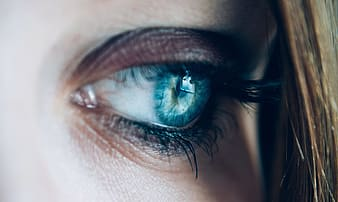 Woman's blue eyes