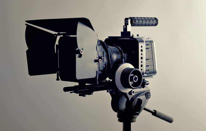 Closeup photo of camera with stand