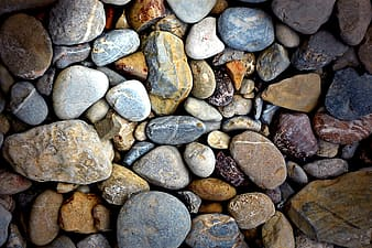 In closeup photography stones