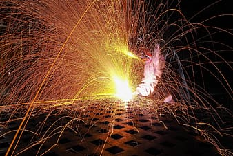 Time lapse photography of steelworks