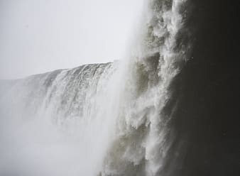 Flowing water fall photo