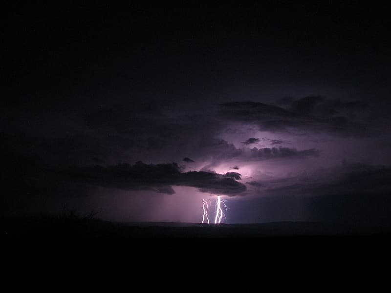 Thunderstorms over the horizon