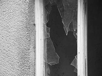 Smashed windowpane