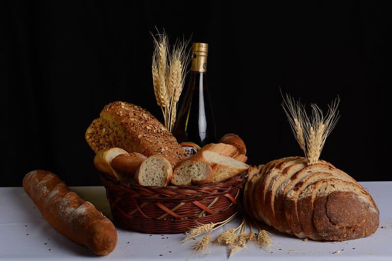 Still life photography of breads