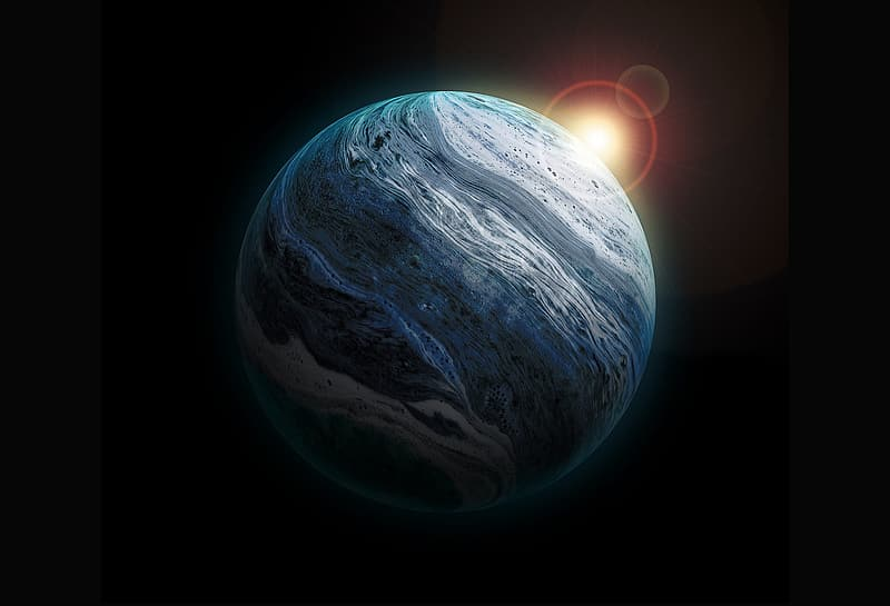 Photo of earth on black background
