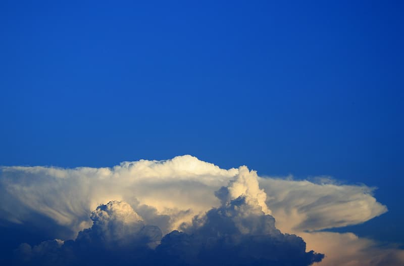 Landscape photography of clouds