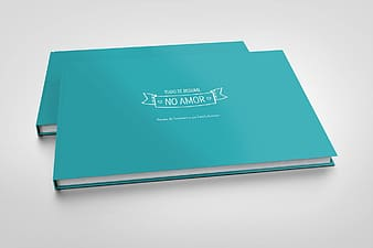 Two teal covered books