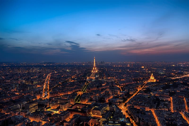 High angle photography of Eiffel Tower, Paris