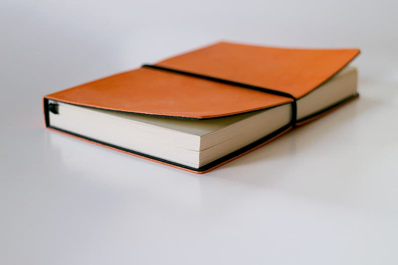 Brown and white book