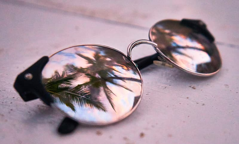 Silver-colored framed hippie sunglasses
