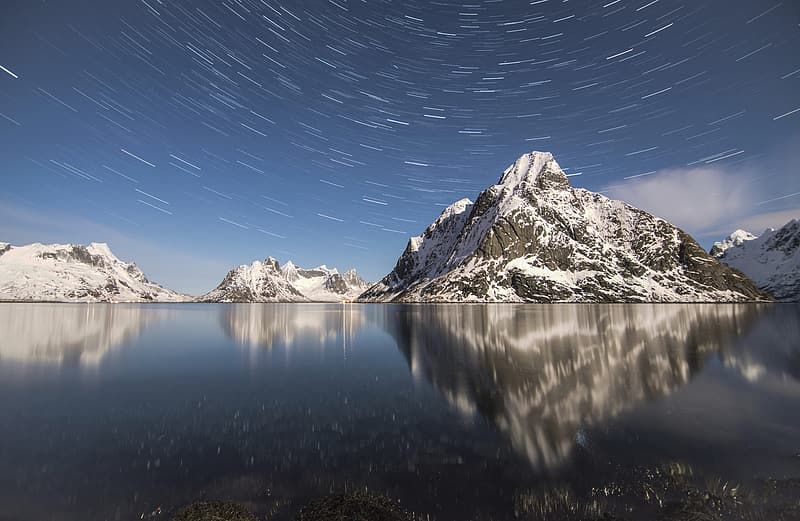 Time lapse photography of mountain