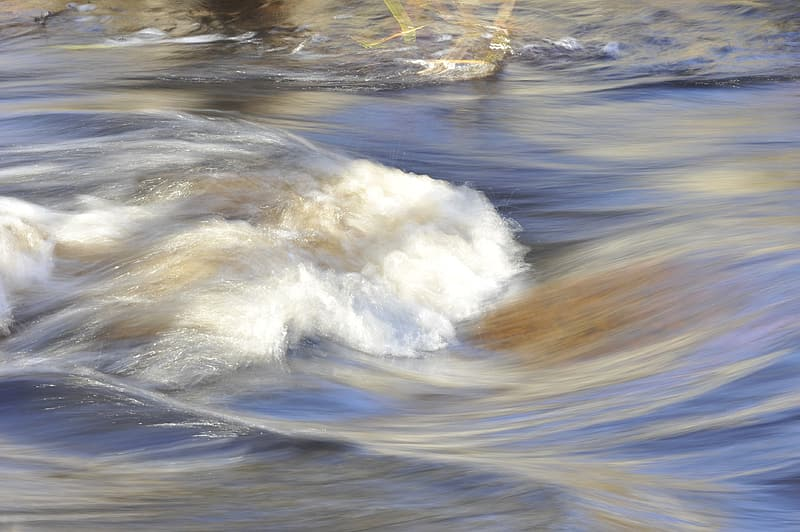Time lapse photo of flowing water