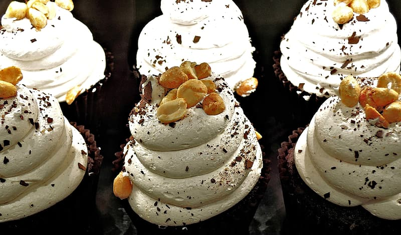 Nuts cupcakes