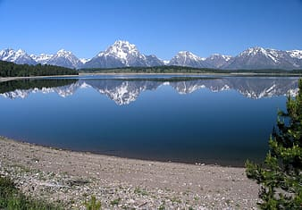 Reflective photo of mountain and lake during daytime