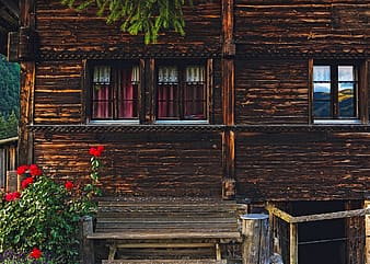 Brown wooden house during daytime