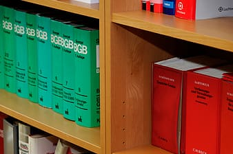 Assorted-title book on shelf