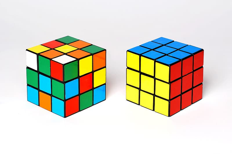 Two 3by3 rubik cubes
