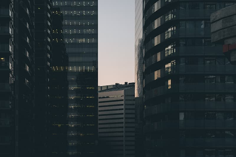 Photo of black and gray high-rise buildings