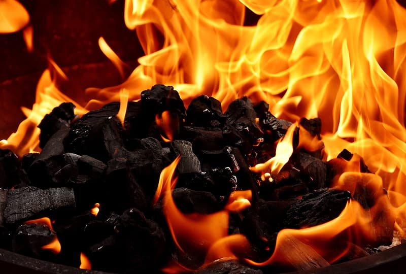 Untitled, Fire, Flame, Carbon, Burn, Hot, Mood, fire, flame, campfire, fireplace