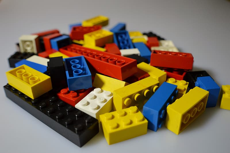 Selective photo of building block lot