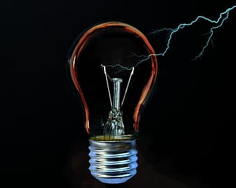 Red light bulb with light