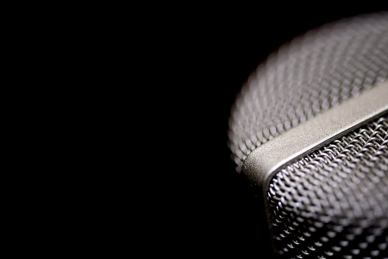 Black condenser microphone close up photography