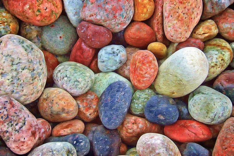 Assorted-color stones