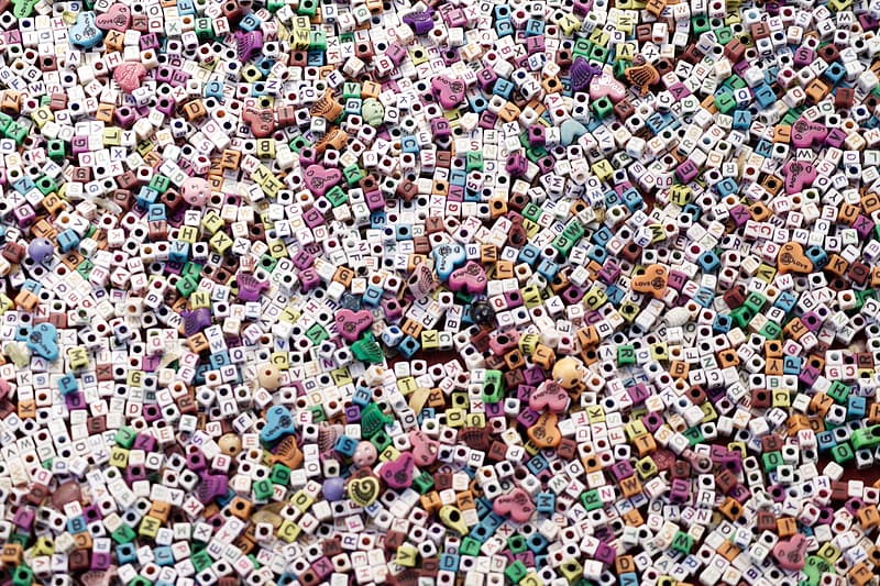 Aerial view of people in assorted colors of floral dress