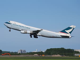 Cathay Pacific Cargo airliner raising altitude from airway