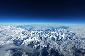 Aerial photography of atmosphere