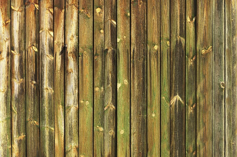 Brown and green wooden surface