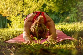 Woman doing yoga outdoor