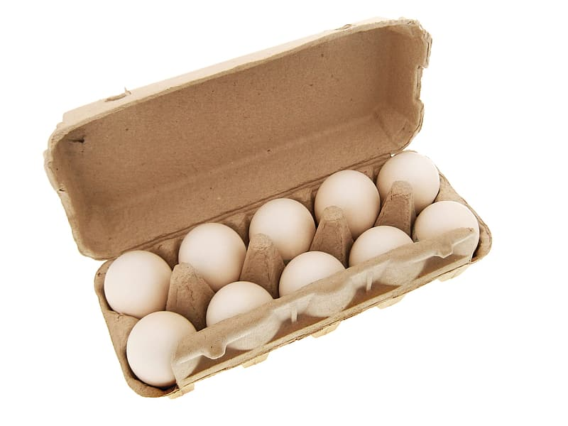Brown eggs in brown egg tray