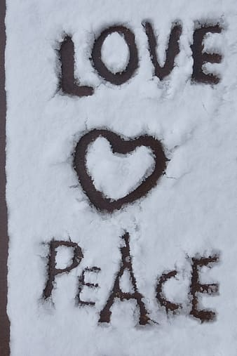 White snow with love text