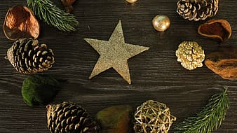Gold star decor