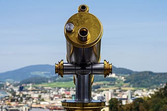 Gray and gold telescope during daytime