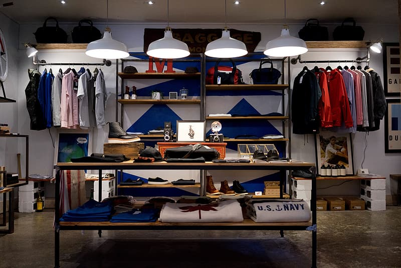 Men's apparel store