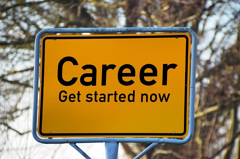Career get started now text panel board