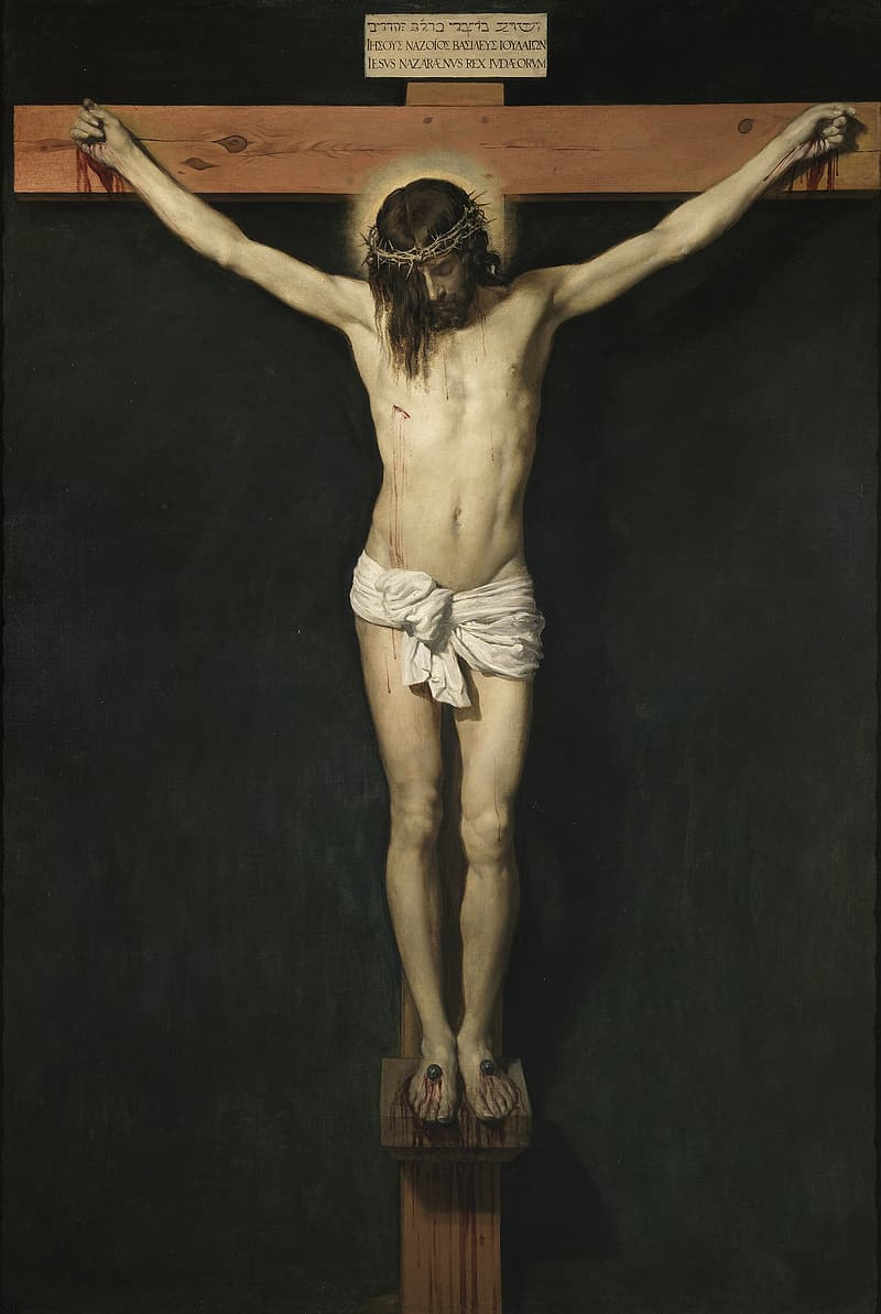 Jesus Christ on the cross painting
