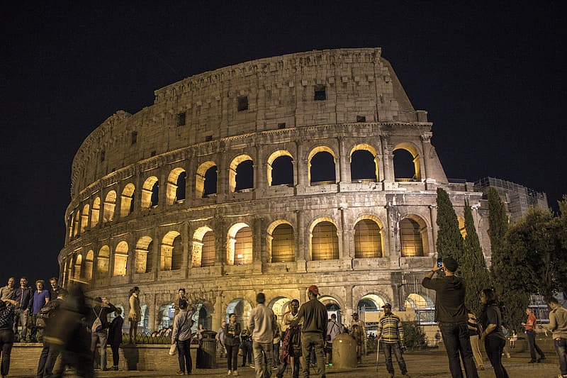 The Colosseum, Rome, Italy during nighttime