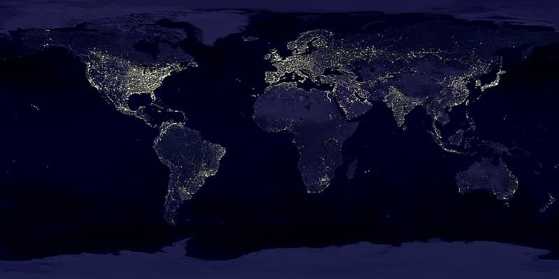 Untitled, earth, earth at night, night, lights, lighting, space, space travel, coastlines, sea