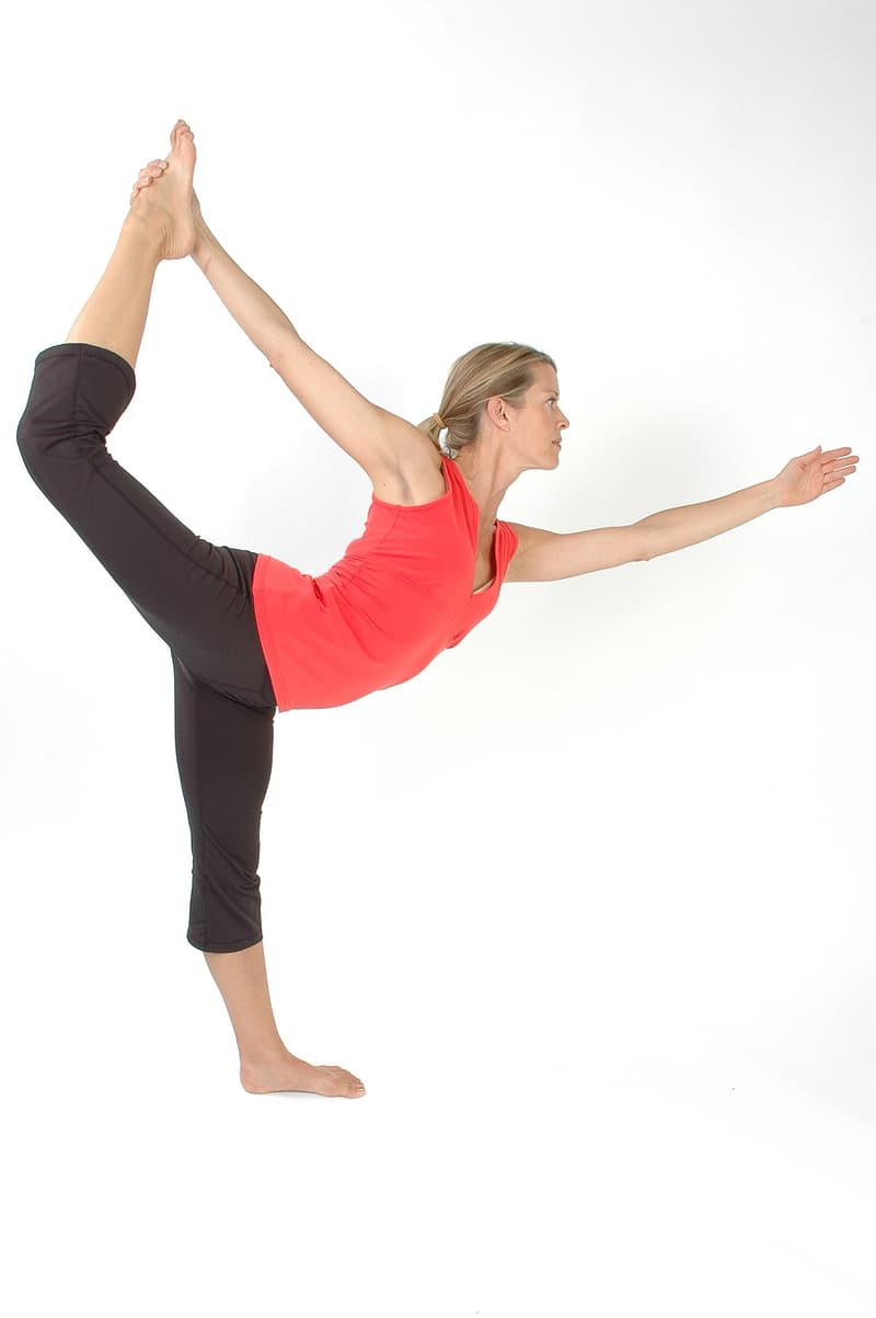 Woman performing yoga position