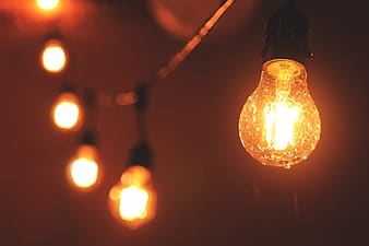 Closeup shot of light bulbs