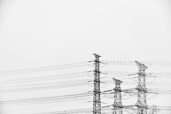 Gray transmission towers