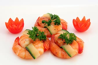 Shrimp with celery dish