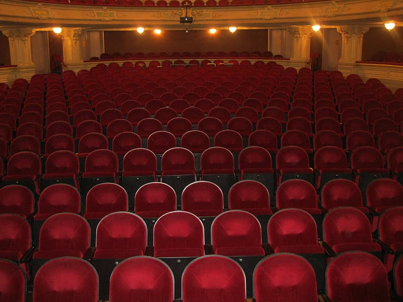 Red theater chairs