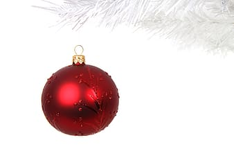 Red bauble ornament